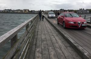 Bridge to an Island off of Clontarf Road in Dublin, Ireland